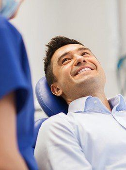 Man relaxing in dental chair
